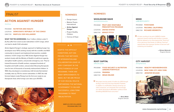 Poverty and Hunger Relief page