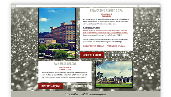 Accommodations page